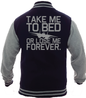 TAKE ME TO BED VARSITY - INSPIRED BY TOP GUN TOM CRUISE